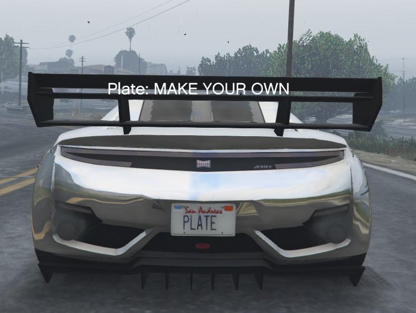 Customize Plate — свои номерные знаки в GTA 5
