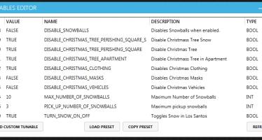 Tunables Editor для GTA Online