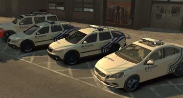 Бельгийский пак полицейских машин v1