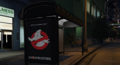Ghostbusters Movie Poster Bus Station