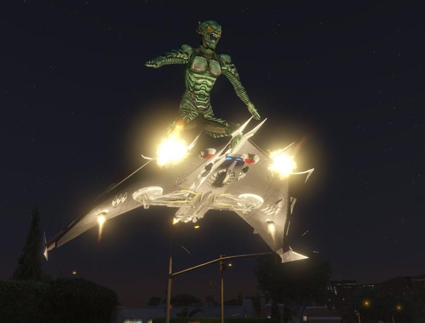 Green Goblin Glider and Powers Script