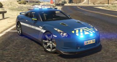Nissan GTR French Gendarmerie для GTA 5