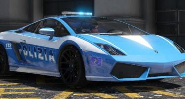 Lamborghini Gallardo Polizia + Template для GTA 5