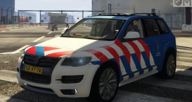 Volkswagen Touareg R50 Dutch Police & KMAR для GTA 5
