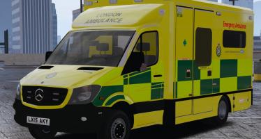 Моды для GTA 5 2015 London Ambulance