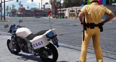 Vietnam Traffic Control Police Bike для GTA 5
