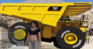 Моды для GTA 5 Caterpillar 797 (CAT)