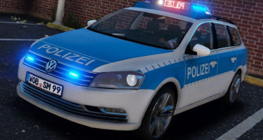 Моды для GTA 5 Volkswagen Passat B7 Polizei Wolfsburg