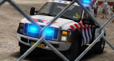 Моды для GTA 5 Ford F550 Dutch Police Towtruck