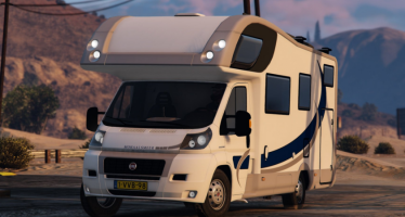 Моды для GTA 5 Fiat Campervan + Bike Trailer