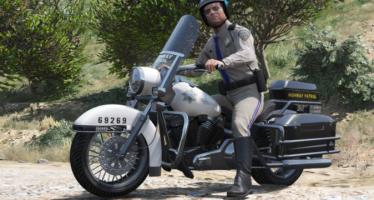Моды для GTA 5 SAHP Vanilla Police Bike