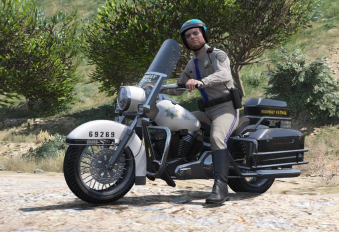 Моды для GTA 5 SAHP Vanilla Police Bike.
