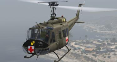 Моды для GTA 5 UH-1H 1st Calvary Medevac.
