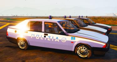 Моды для GTA 5 Alfa Romeo 75 Polizia