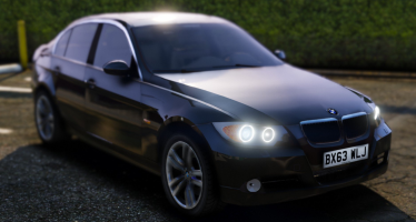 Моды для GTA 5 Unmarked BMW 330d Saloon
