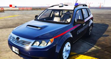 Моды для GTA 5 Subaru Forester Carabinieri