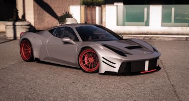 Моды для GTA 5 Prior Design Ferrari 458 Widebody