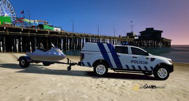 Моды для GTA 5 Portuguese Public Security Police JetSki + Trailer