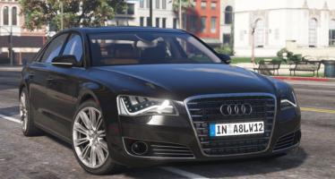 Моды для GTA 5 2010 Audi A8 L W12 Quattro