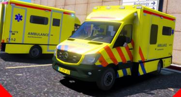 Моды для GTA 5 Dutch Mercedes Facelift Ambulance