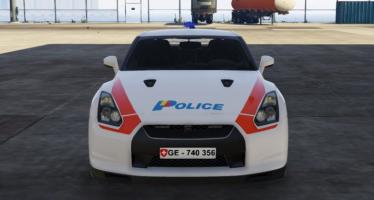 Моды для GTA 5 Nissan GTR Swiss police