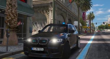 Моды для GTA 5 BMW X5M 2013 Polizei Bayern Kripo