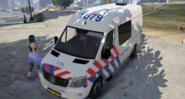 Моды для GTA 5 Mercedes Benz Sprinter 2015 Dutch Police