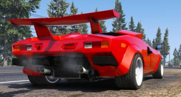 Моды для GTA 5 Lamborghini Countach QV 1988 US SPEC