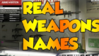 Real Weapon Names