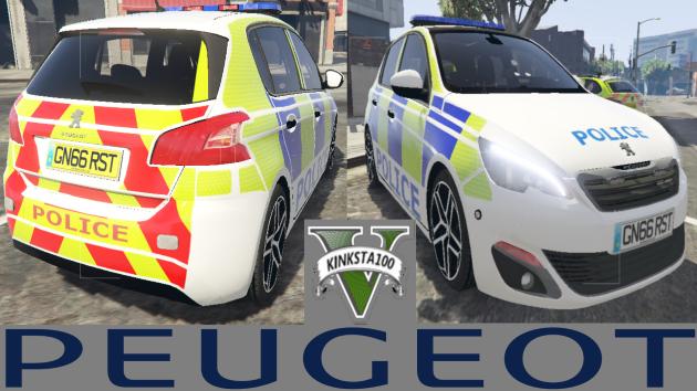 British Peugeot 308 Police