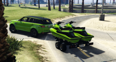 Trailer with Jetski