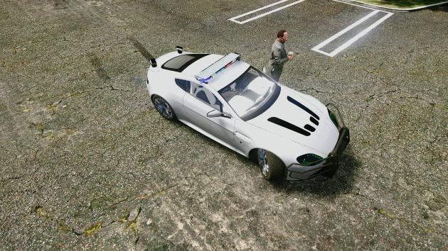 Aston Martin Vantage Police FBI