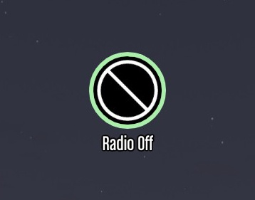 Tap Key for Radio Off