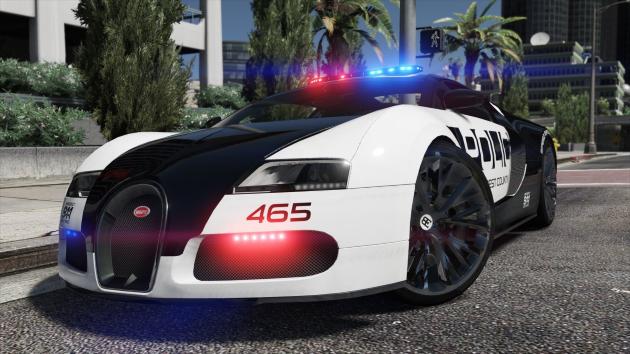 Bugatti Veyron Hot Pursuit Police