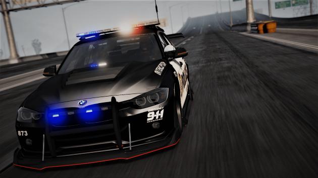 BMW 3 F30 Police Crazy exterior