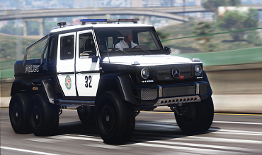 Mercedes-Benz G63 AMG 6×6 Police [Add-On]
