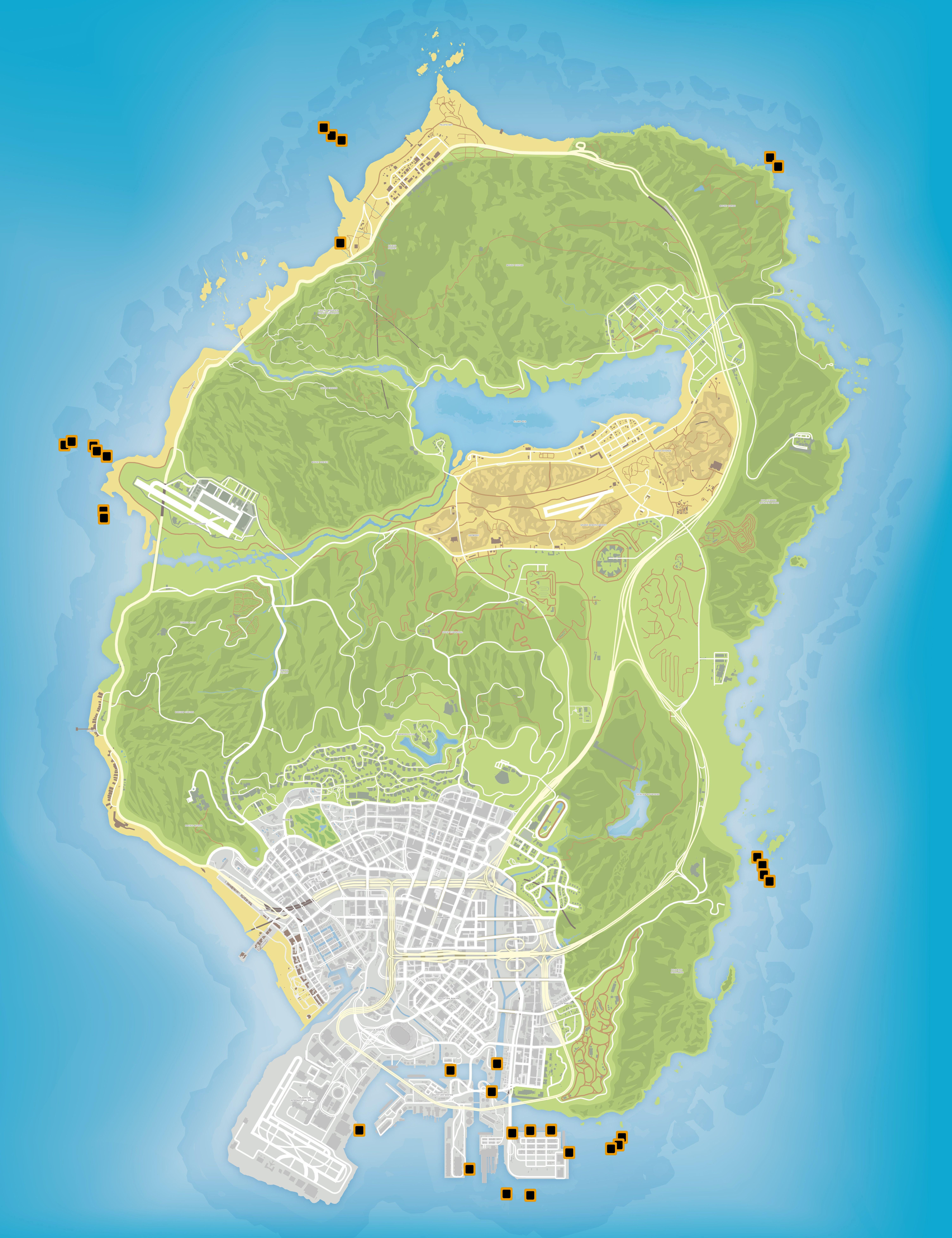Карта деталей субмарины