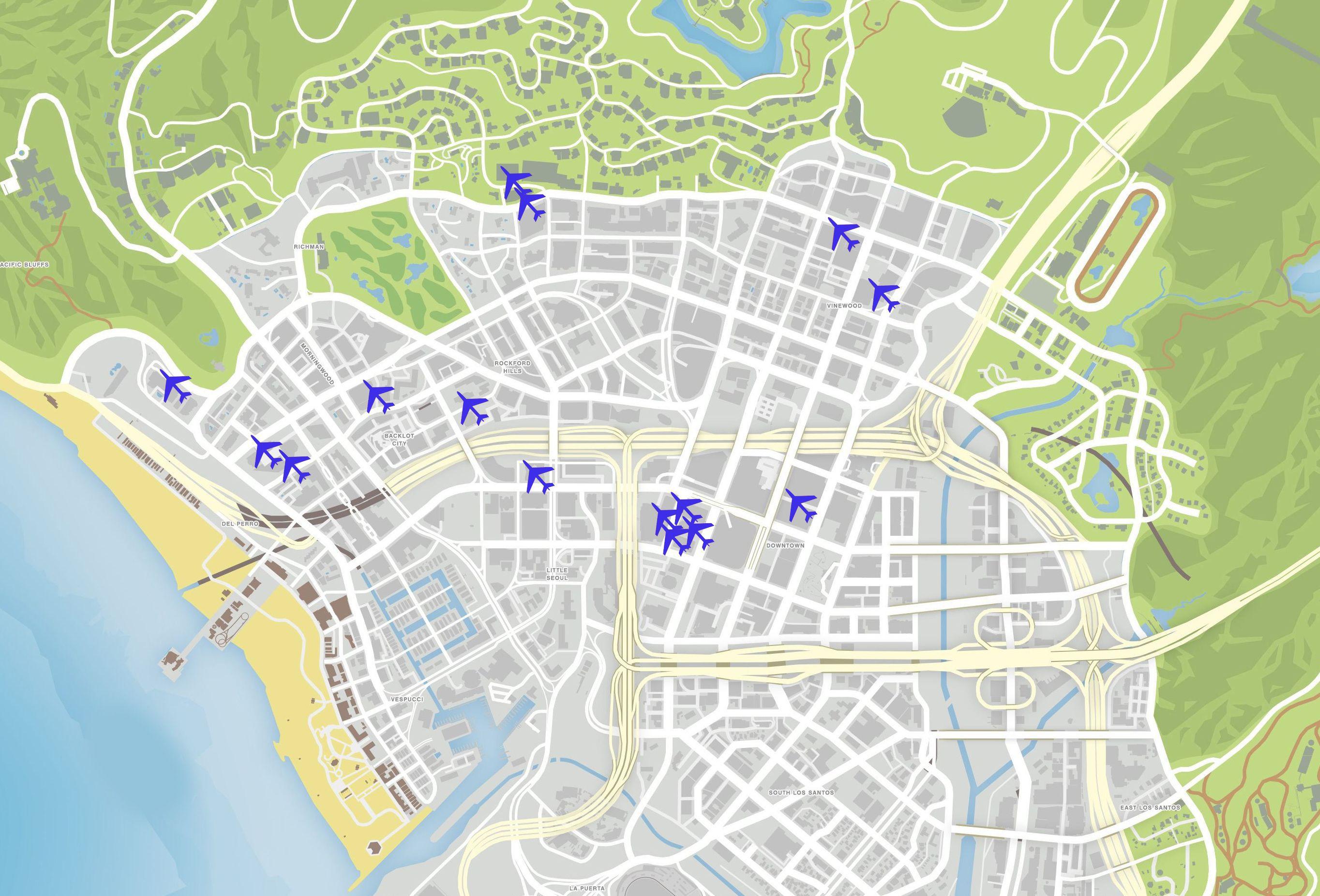 Карта летных испытаний в GTA 5