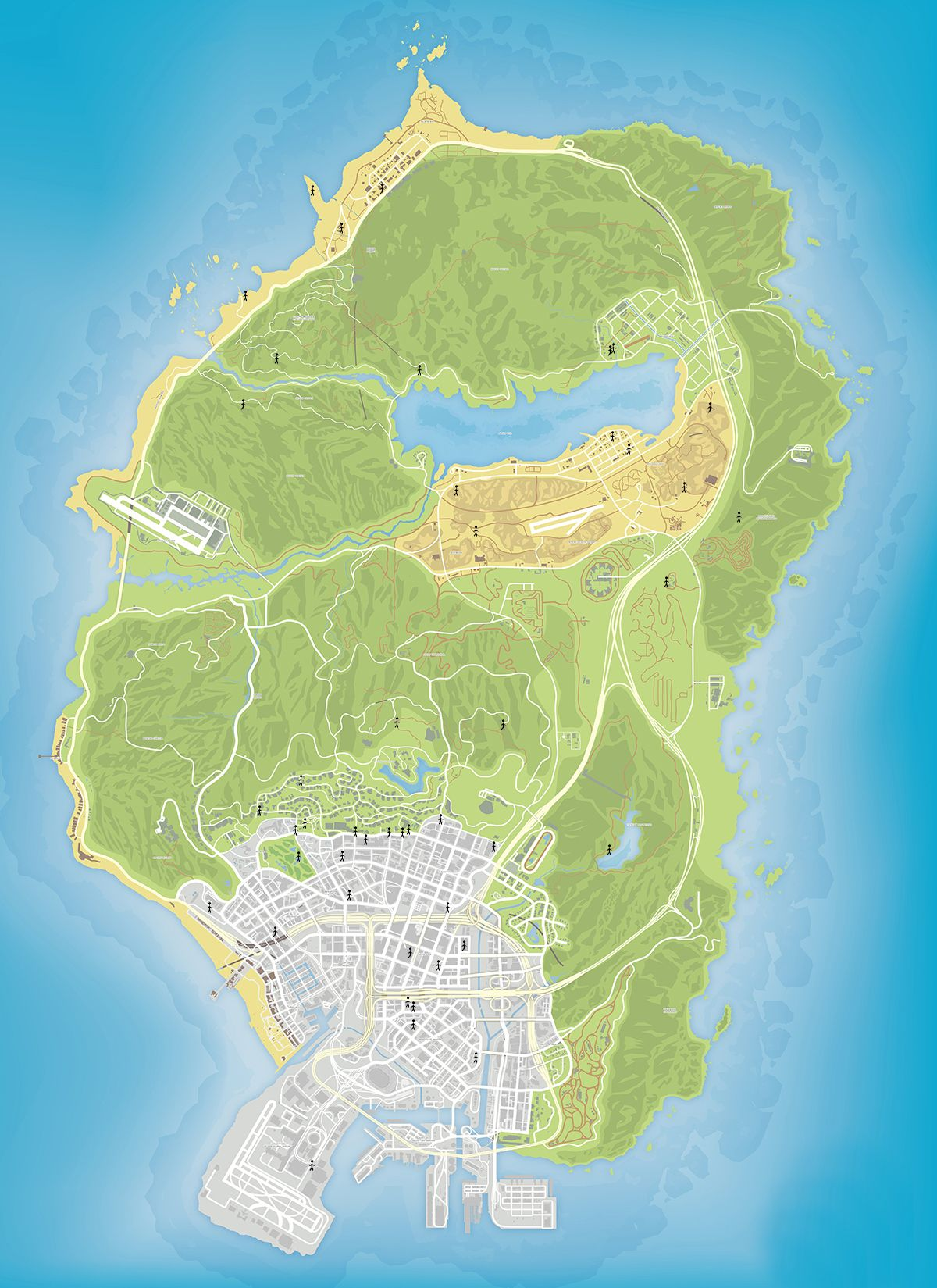 Карта случайных встреч в GTA 5