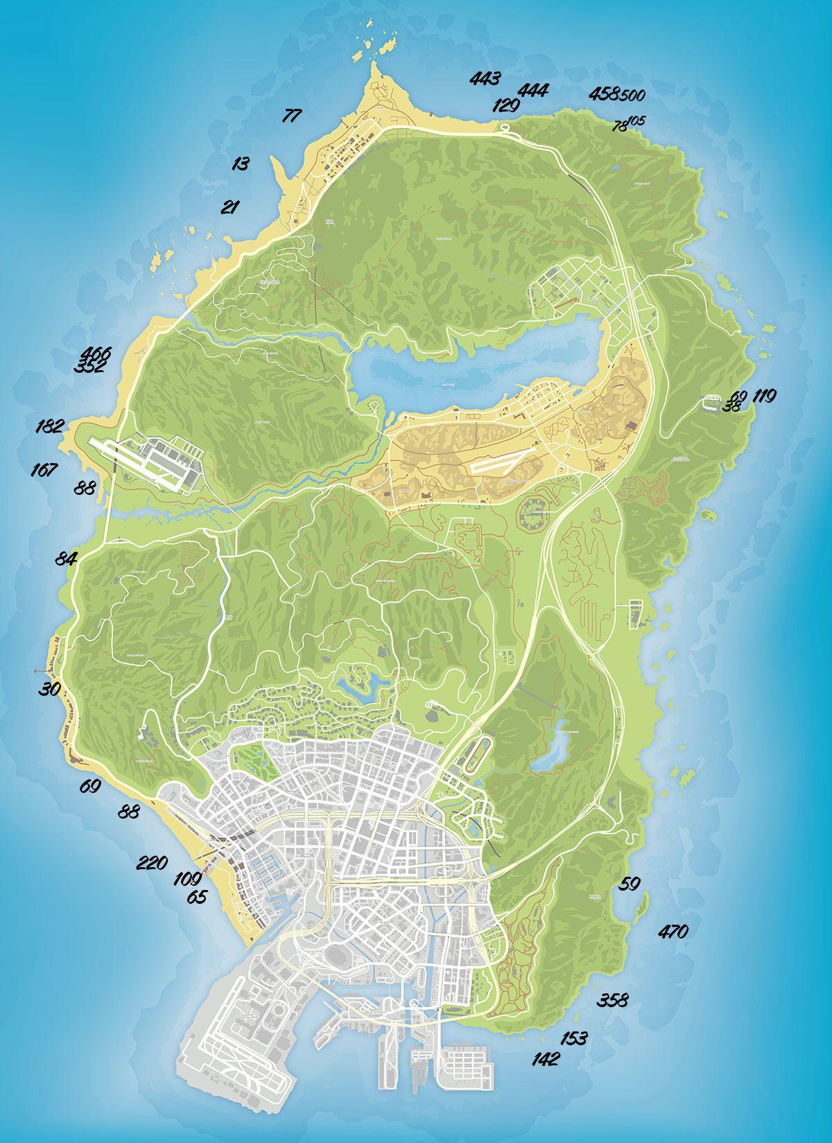 Карта токсичных отходов в GTA 5