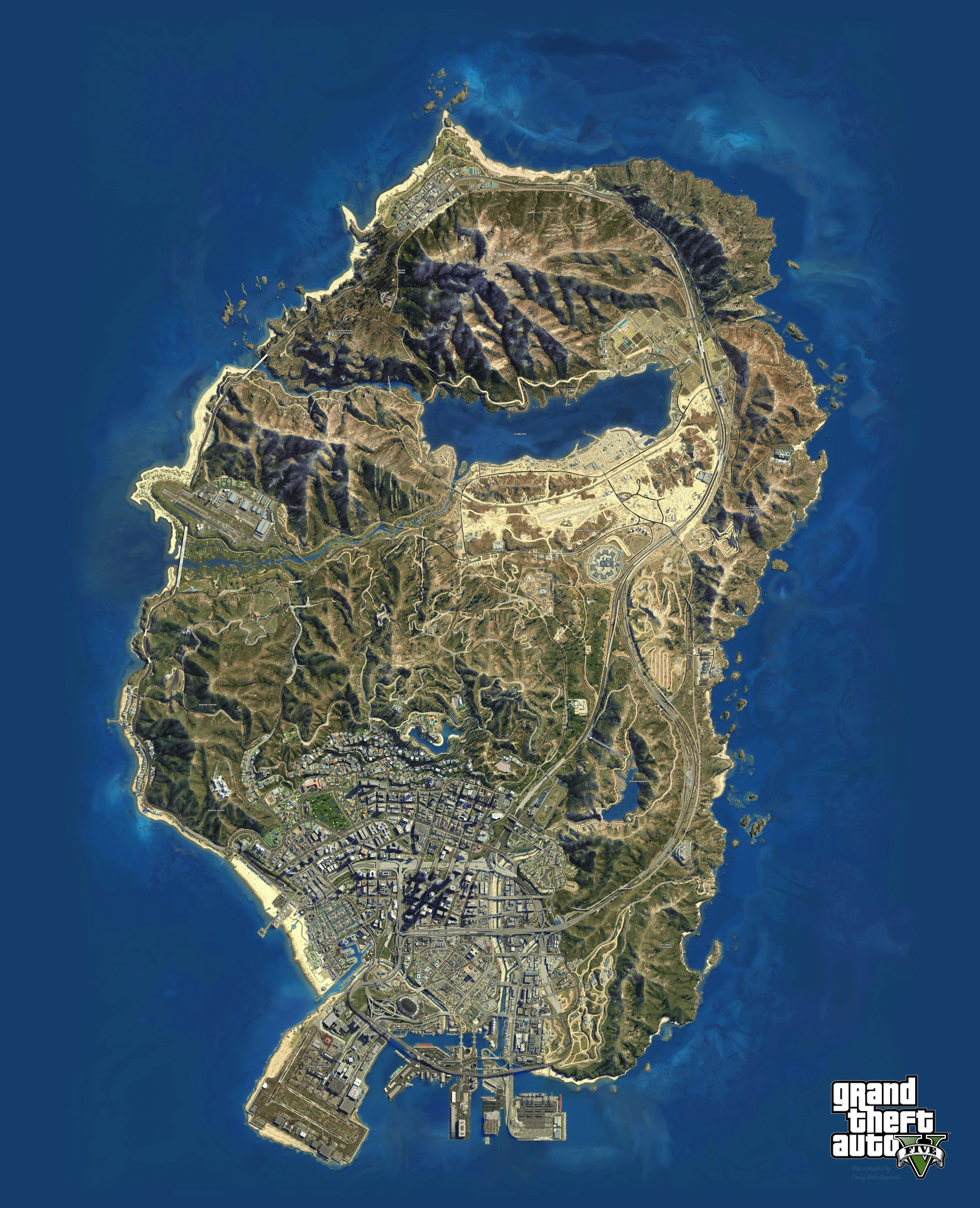 Карта обрывков письма в GTA 5