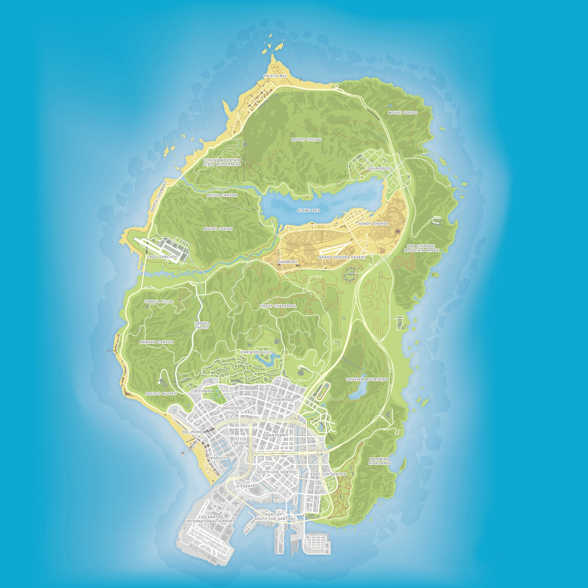 Топографическая карта в GTA 5