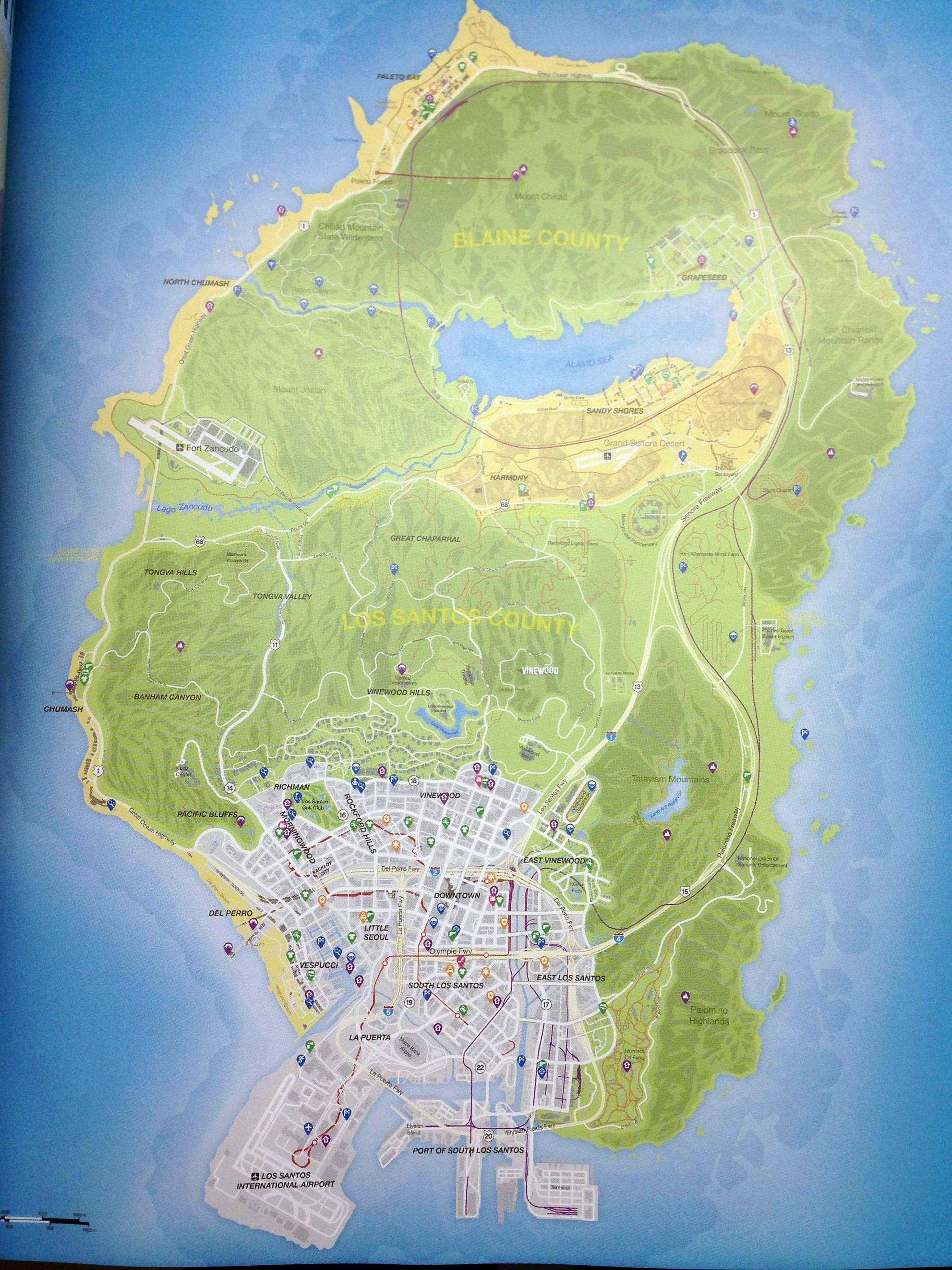 GTA 5 - Карта