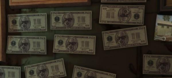 Арт GTA San Andreas на 100-долларовых банкнотах