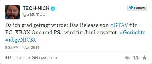 Слух: GTA V выйдет на PC, Xbox One и PS4 в июне