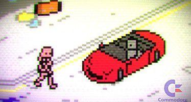 Как могла бы выглядеть GTA 5 на приставке Commodore 64