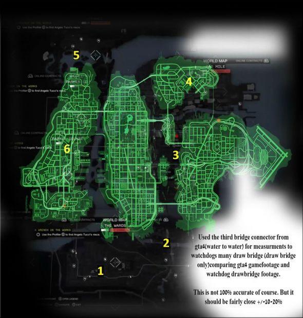 Карта Watch Dogs и GTA 4