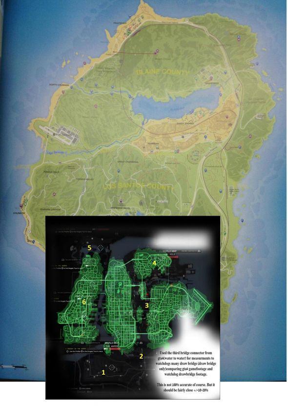 Карта Watch Dogs и GTA 5