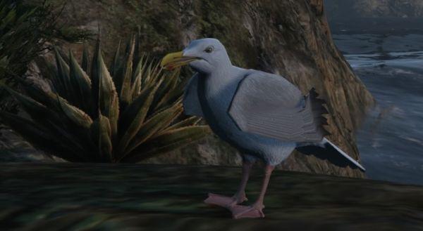 Птицы: Чайка в GTA 5