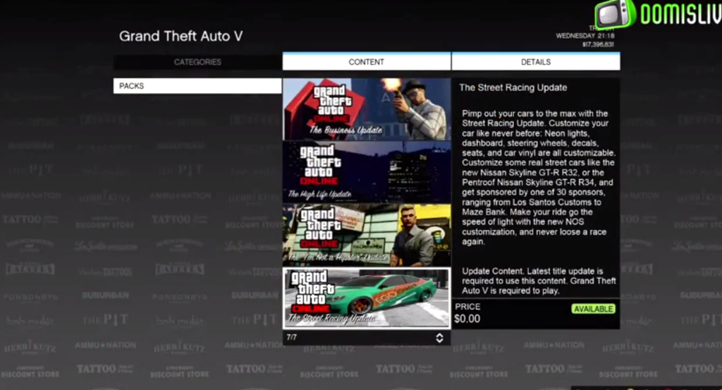 Обновление Стритрейсинг в GTA Online